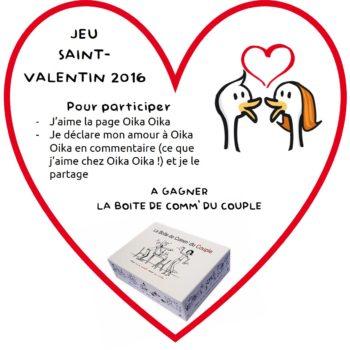 """Participez à notre jeu """"Saint Valentin 2016"""""""