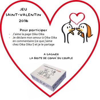 """Les résultats de notre jeu """"Saint-Valentin 2016"""""""