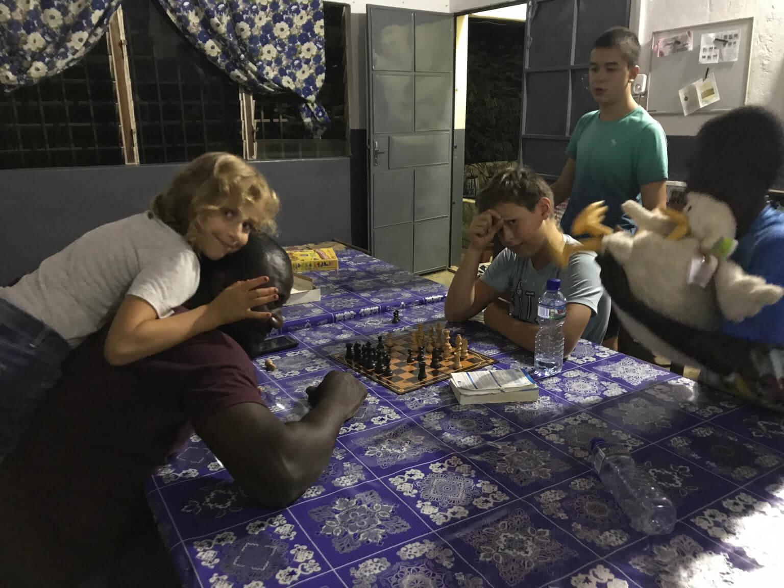 partie d'échecs au Togo